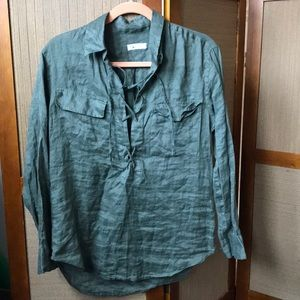 EQUIPMENT ARMY GREEN BLOUSE SIZE XS